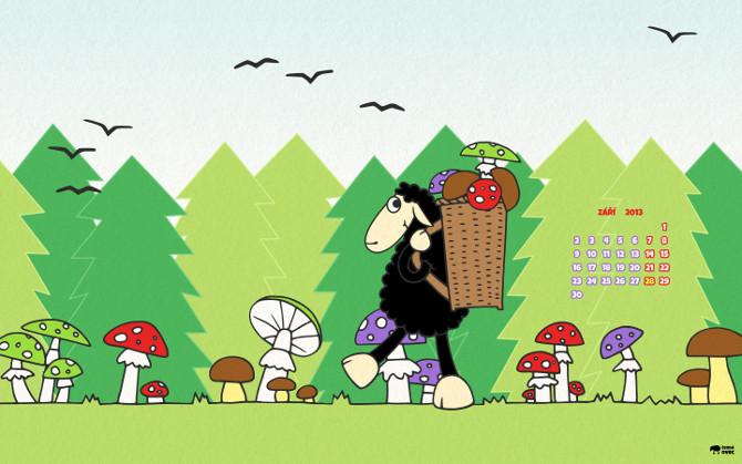 wallpaper podzim - houby