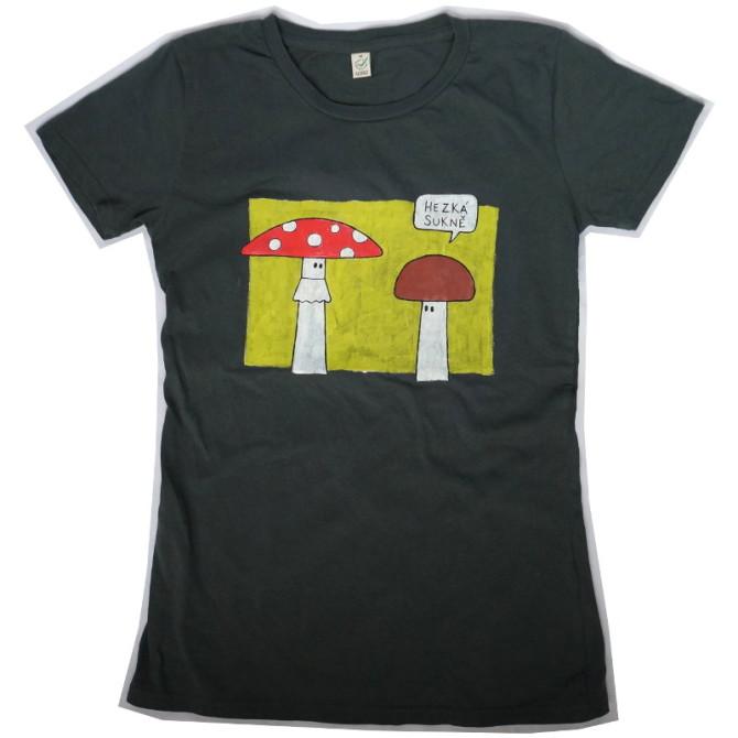hezká sukně – ručně malované tričko