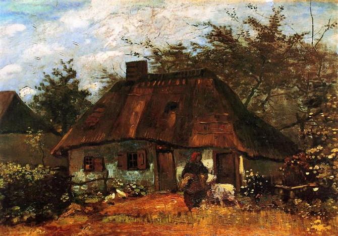 Vincent van Gogh: Chalupa a žena s kozou