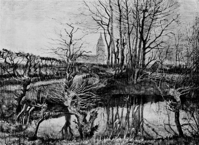 Vincent van Gogh: Krajina v Nuenen
