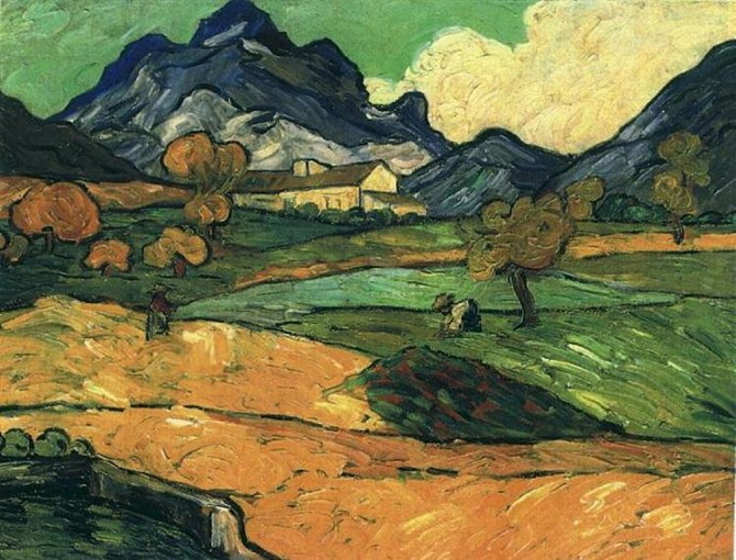 Vincent van Gogh: Mount Gaussier with the Mas de Saint-Paul