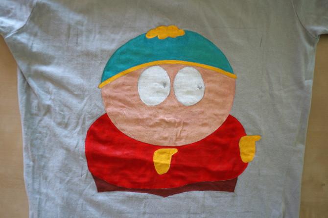 ručně malované tričko - South Park - Cartman