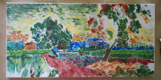 podle Vincenta van Gogha – Krajina za soumraku