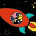 vesmír - zvířátka - raketa
