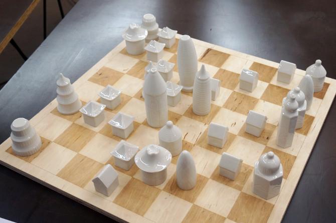 Šachy – evropské a čínské město