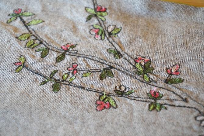 výšivka květy