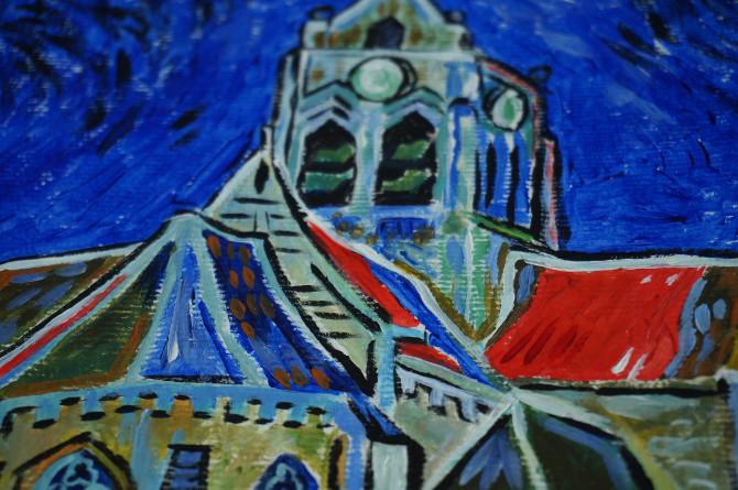kopie Van Gogha: Kostel v Auvers