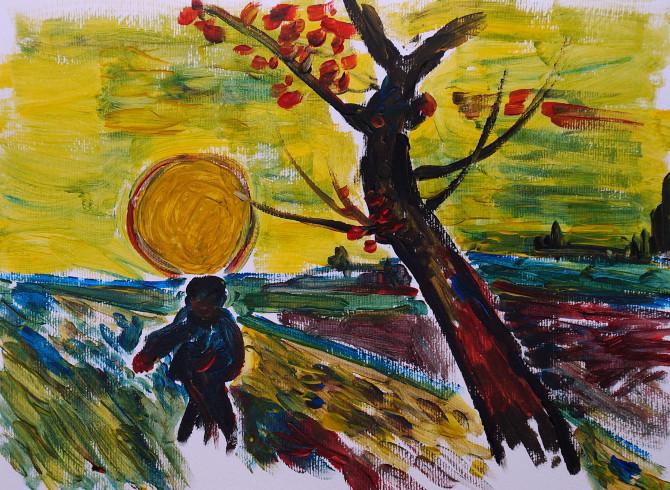 kopie Van Gogha: Rozsévač při západu slunce