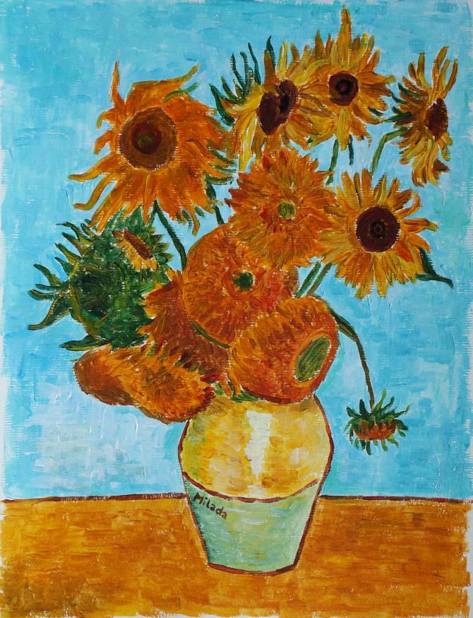 kopie Van Gogha: Zátiší – Váza s dvanácti slunečnicemi