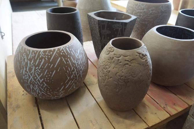 hliněné vázy
