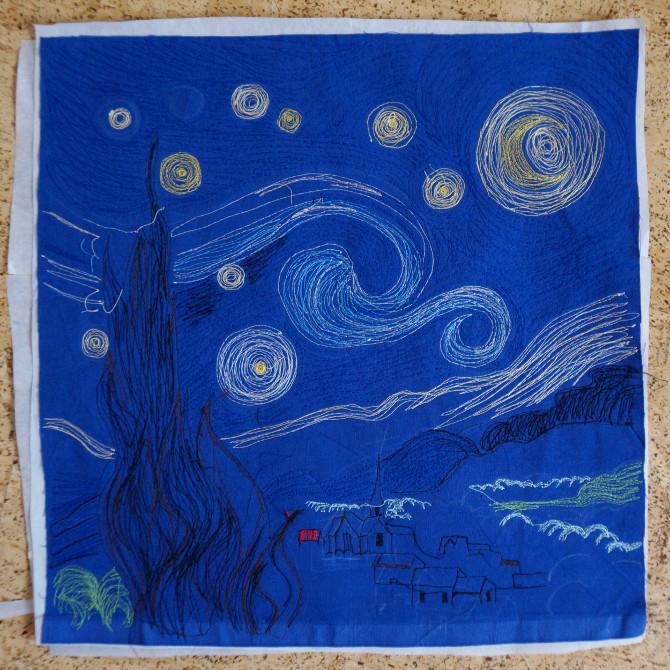 výšivka podle Van Gogha
