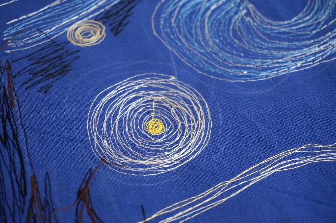 výšivka Hvězdná noc