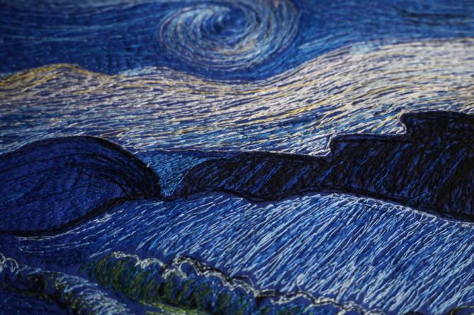 hvězdná noc - vyšívaný obraz