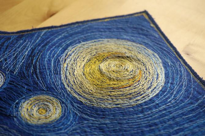 vyšívaný obraz Van Gogh