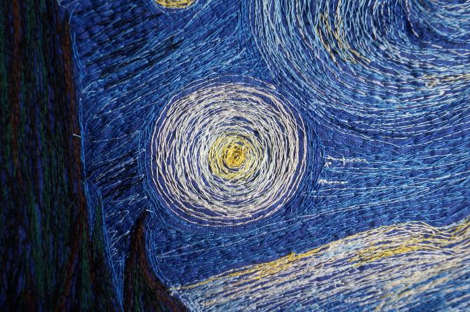 výšivka Van Gogh