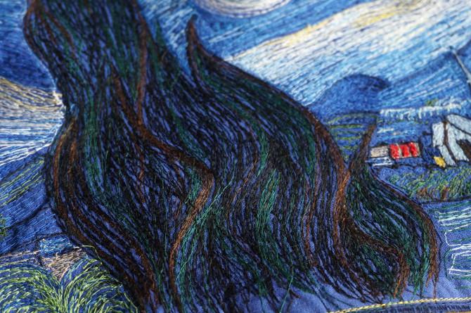 Van Gogh vyšívaný obraz