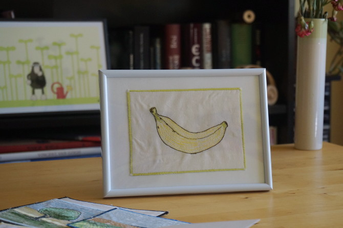 výšivka banán