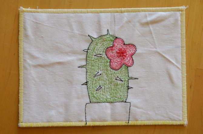 výšivka kaktus