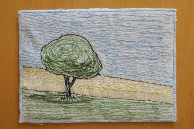 výšivka strom