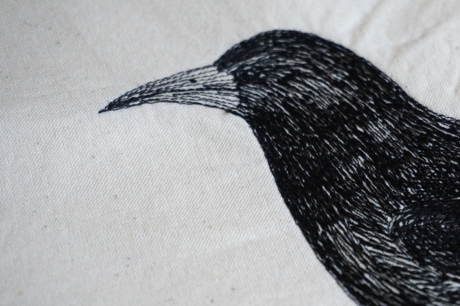 the raven embroidery - výšivka havran