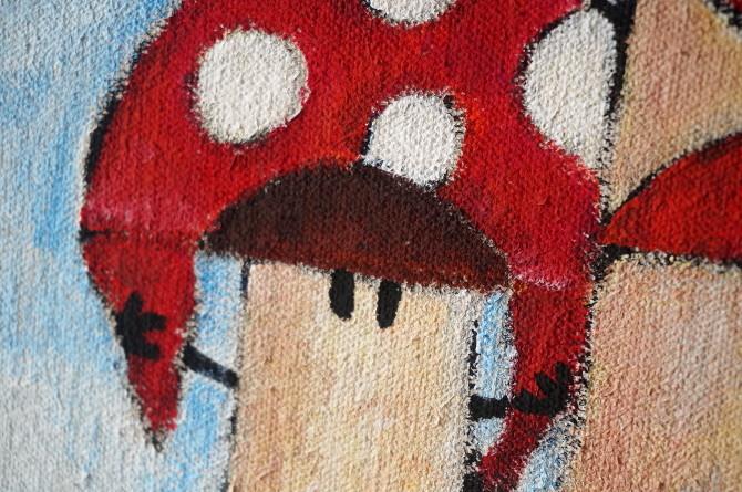 obraz Houby - Houbaření - Muchomůrka - Mushroom picking