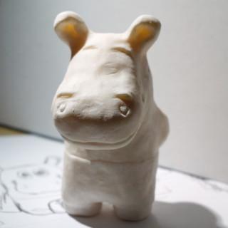 hroch z moduritu - hippopotamus