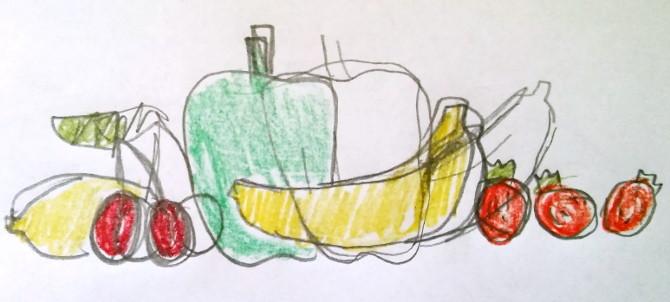 skica - ovoce a zelenina