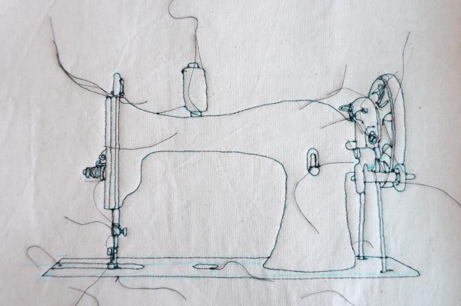 šicí stroj - vyšívání a šití - nitě