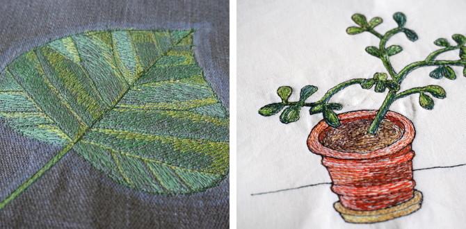 volné vyšívání na stroji - kresba nití - embroidery