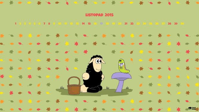 tapeta  na plochu - listopad - houby