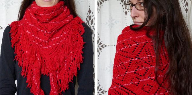 pletený šátek - šála