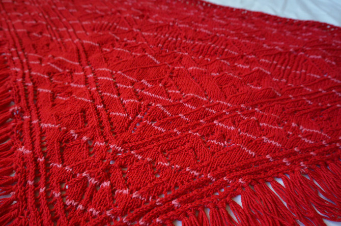 ručně pletený šátek - bavlněný a vlněný