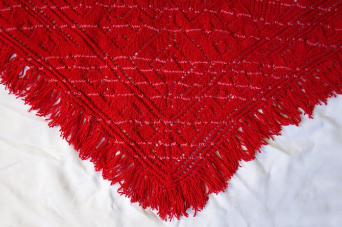 ručně pletený šátek z vlny a bavlny
