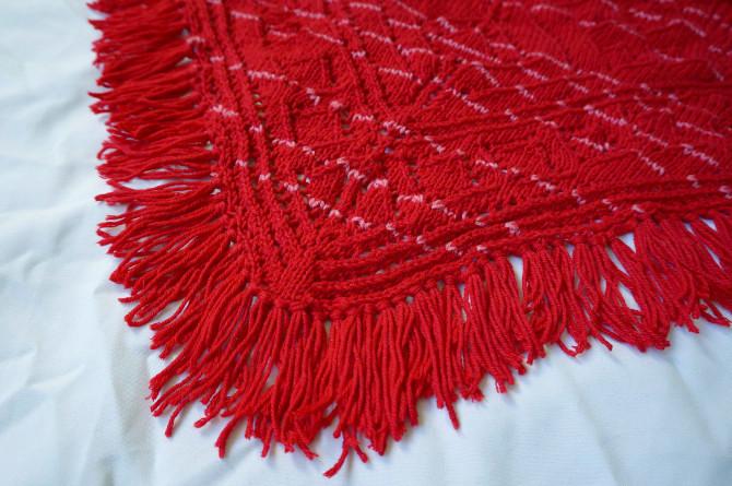 pletený šátek merino vlna a bavlna