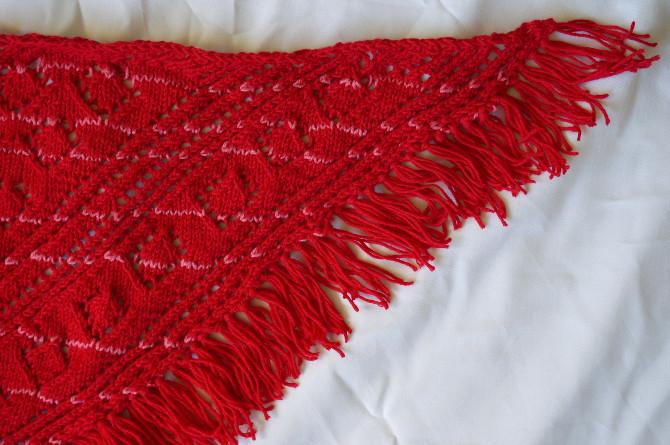 ručně pletený šátek - šála