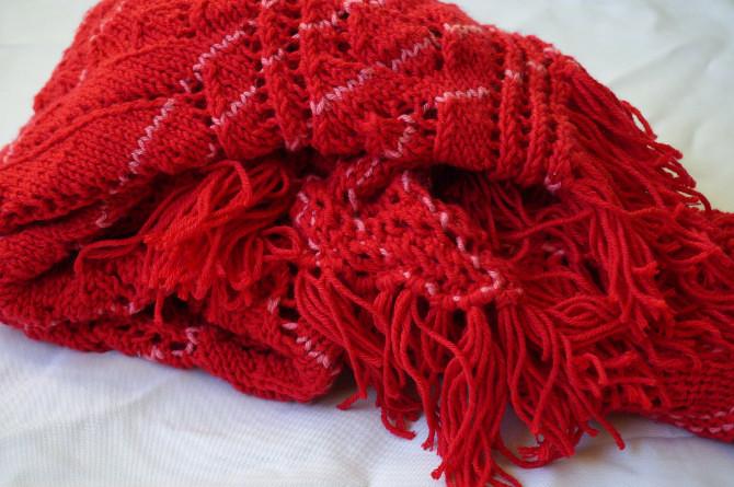 pletení - šátek - šála