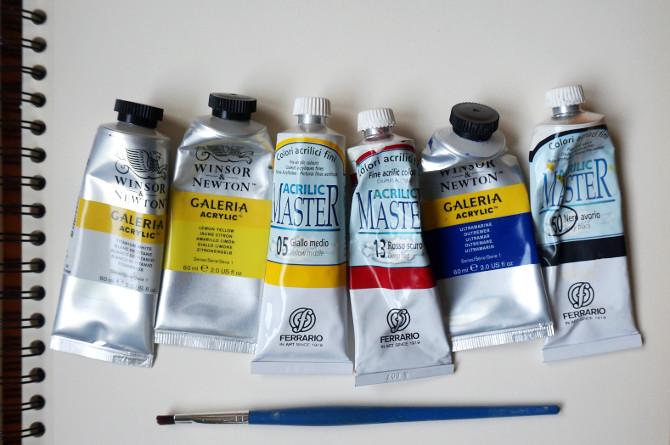 exploding tardis – akrylové barvy