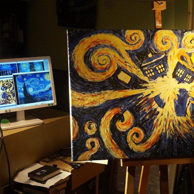 obraz Vybuchující tardis - malování