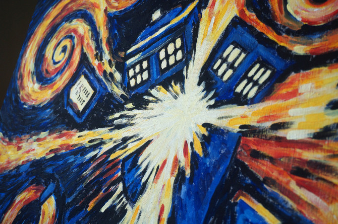 obraz Exploding tardis – vincent van gogh – doctor who