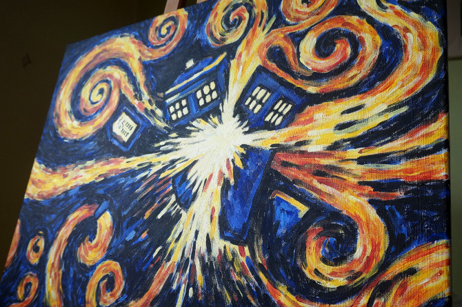 exploding tardis – vincent van gogh & doctor who