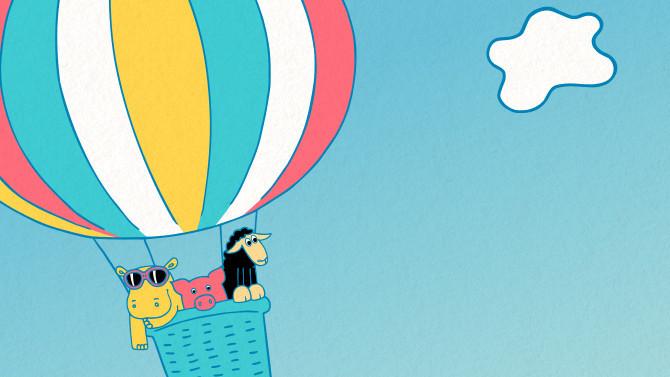 obrázek let balonem