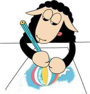 ovec kreslí, omalovánka