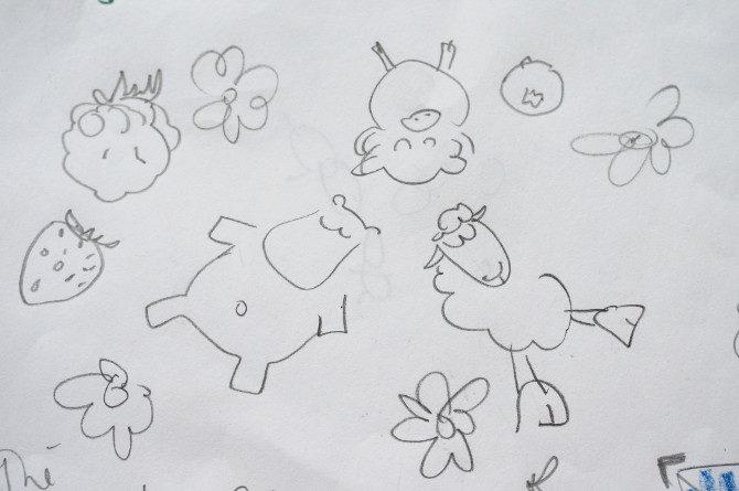 ovoce-skica