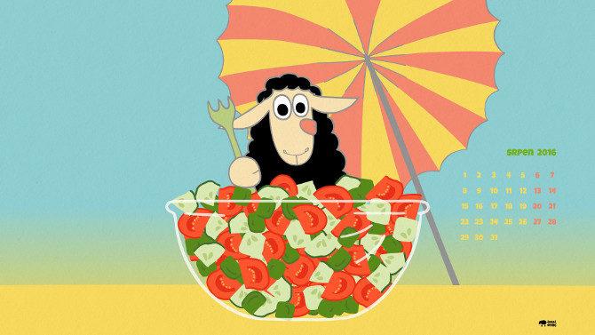 černá ovec - zeleninový salát