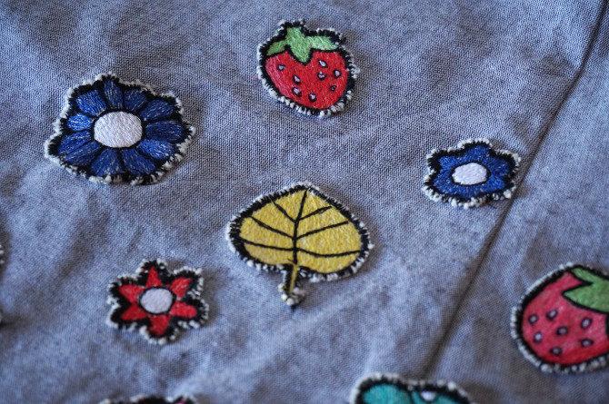 art skirt výšivka - detail