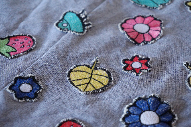 art skirt embroidery - detail