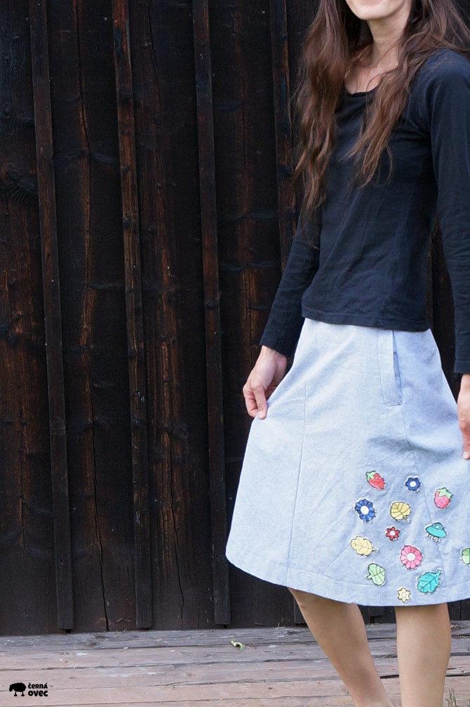 skirt embroidery - sukně s výšivkou