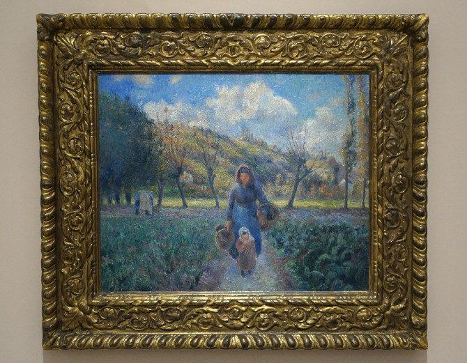 Camille Pissarro: V zelinářské zahradě