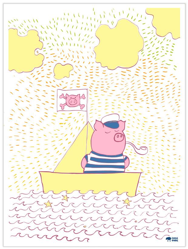 kapitán prasátko ilustrace
