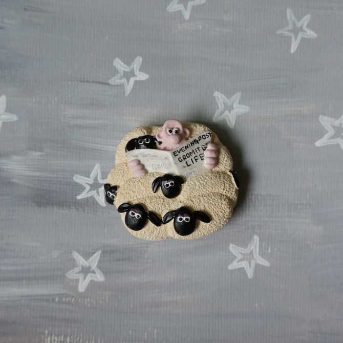 wallace gromit sheep magnet